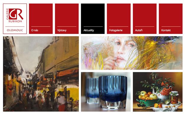 Webová stránka Galerie Rubikon v Olomouci