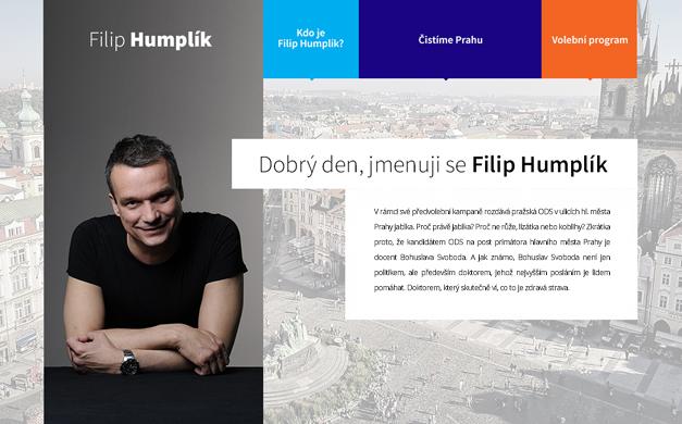 Web pro Filipa Humplíka