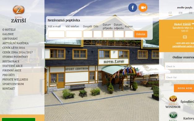 Webová prezentace Hotelu Zátiší