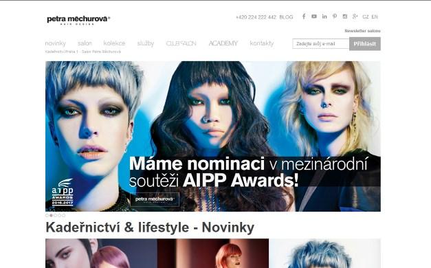 Úspěšné webové stránky kadeřnictví Petra Měchurová