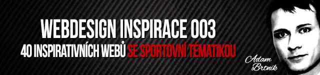 WEBDESIGN 003: 40 INSPIRATIVNÍCH WEBŮ SE SPORTOVNÍ TÉMATIKOU