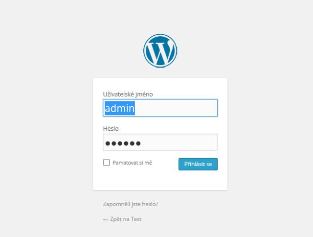 Přihlášení do WordPressu