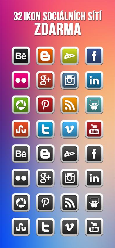 Ikony pro sociální sítě