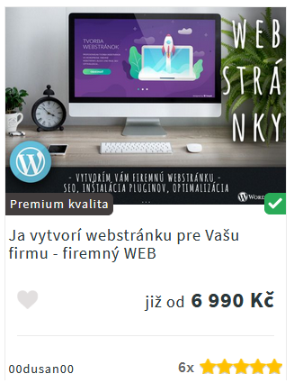 Akce na tvorbu webu